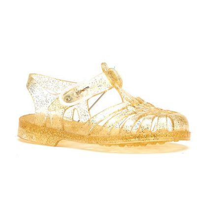 Meduse waterschoenen goud glitter