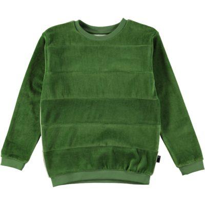 Molo Morris Sweater voetbalveld groen