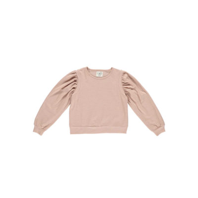 Gro Sweater Silky Stripe Roze