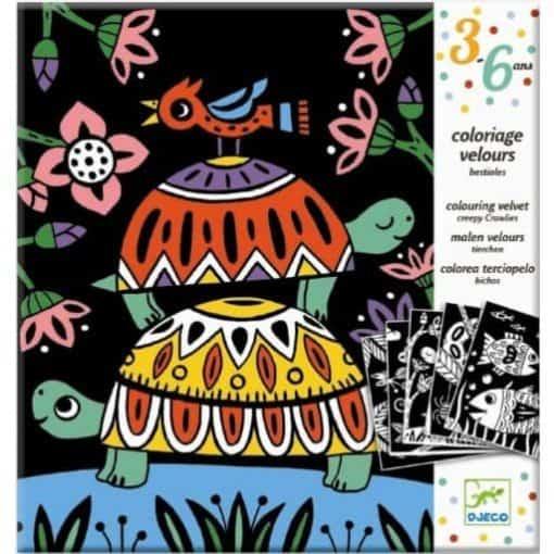 Djeco fluweelkleurplaten dieren