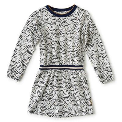 Little Label jurk blauwe hartjes