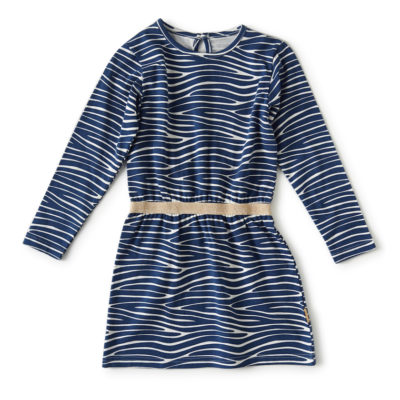 Little Label jurk zebra blauw