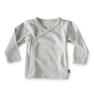Little Label shirt overslag zwarte streepjes