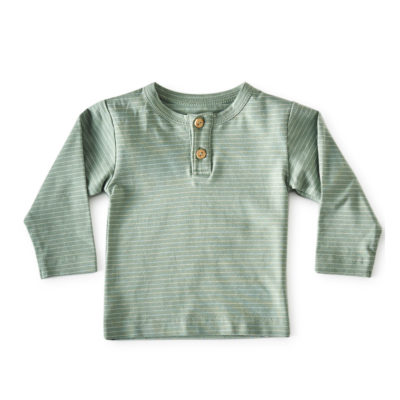 Little Label shirt groen streepjes