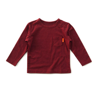 Little Label shirt donker rood