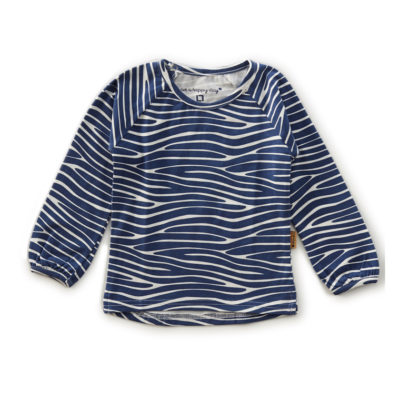 Little Label shirt zebra blauw