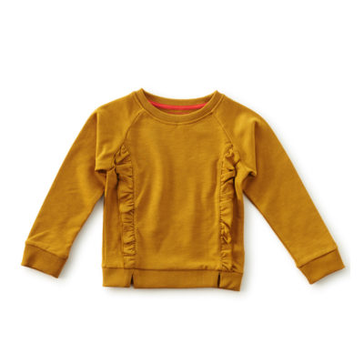 Little Label sweater goud bruin