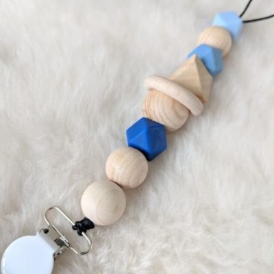 Slaep X Little Department Store Pacifier Clip Blue