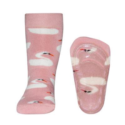 Ewers Anti Slip Sokjes Zwaantjes Roze