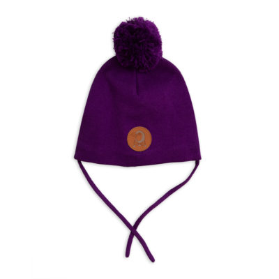 Mini Rodini Penguin Hat Purple