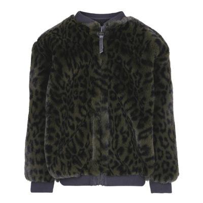 Molo winterjas luipaard groen