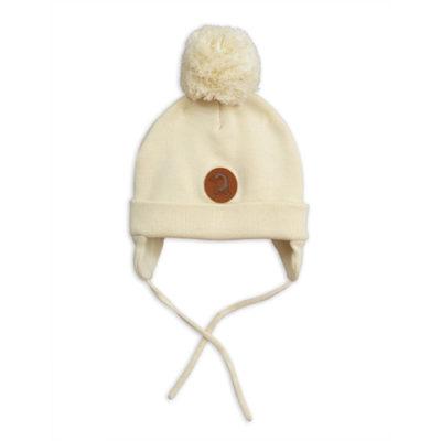 Mini Rodini Penguin Baby Hat Offwhite