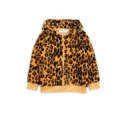 Mini Rodini Leopard sweatshirt velour zip hoodie