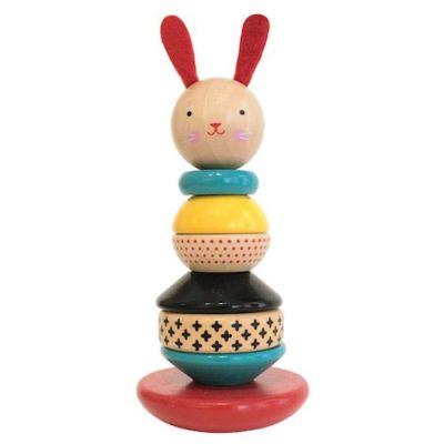 Petit Collage Stapeltoren konijn