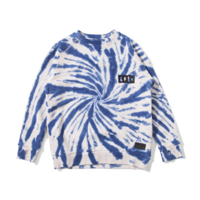 Munsterkids sweater twisted blauw