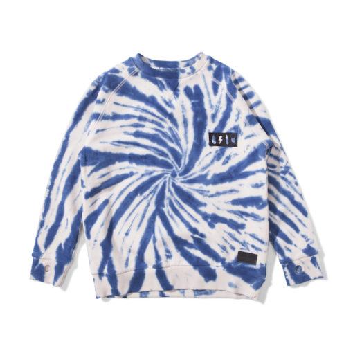 Munsterkids sweater twisted blauw