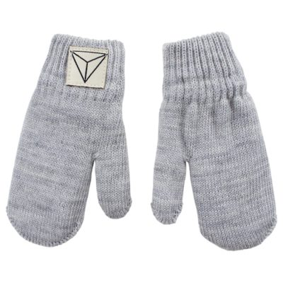 Nordic Label knit mittens grey