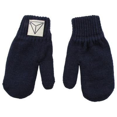 Nordic Label knit mittens navy