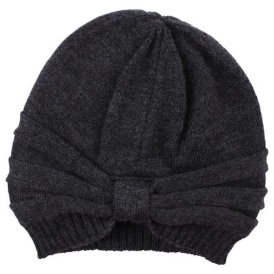 Nordic Label knit wool turban hat dark grey