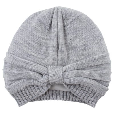 Nordic Label knit wool turban hat grey