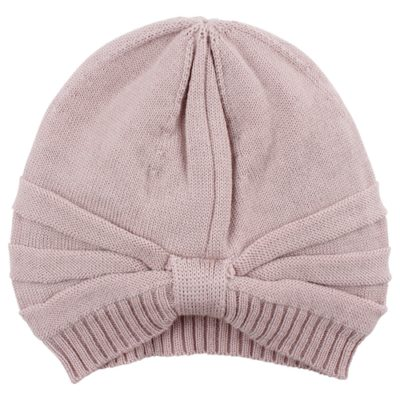 Nordic Label knit wool turban hat rose