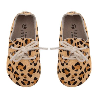 Little Indians Oxford Booties Leopard