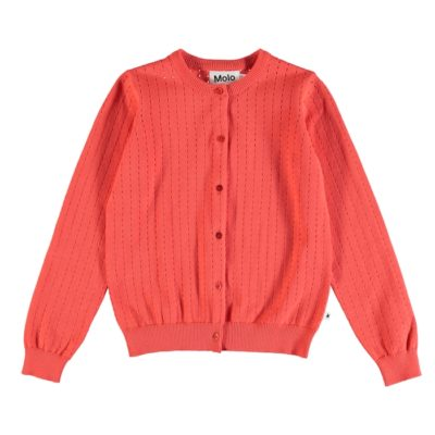 Molo Georgina Cardigan Hot Coral