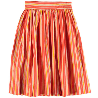 Molo Skirt Britanny Coral Sunrise Stripe