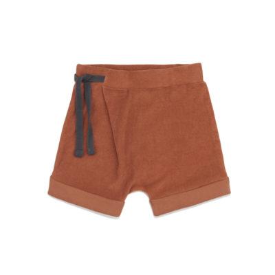 Phil & Phae Frotté harem shorts Burnt clay