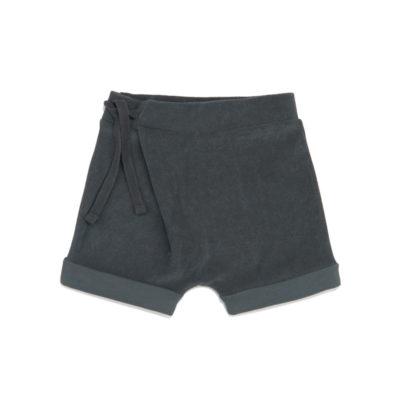 Phil & Phae Frotté harem shorts Slate green