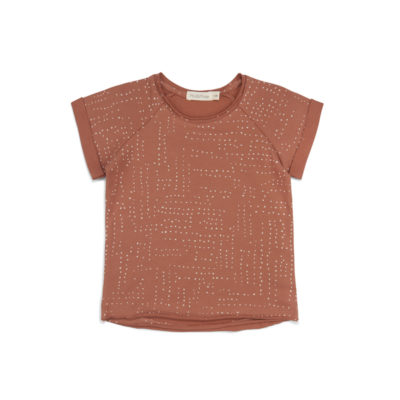 Phil & Phae Raglan tee Burnt clay