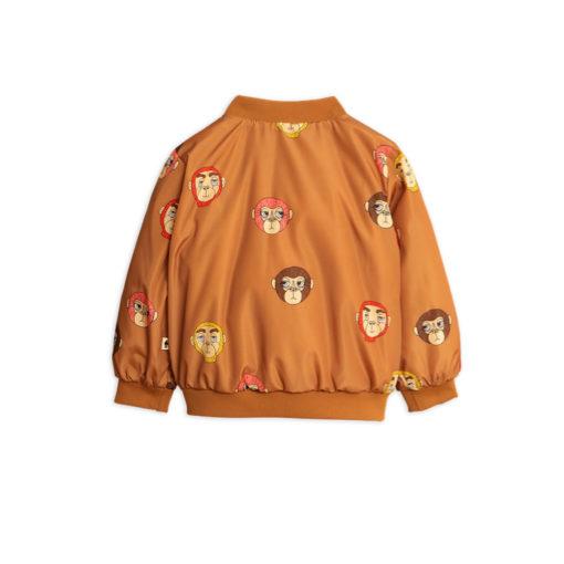 Mini Rodini Monkey baseball jacket brown