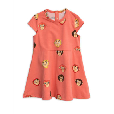 Mini Rodini Monkeys Dress Pink