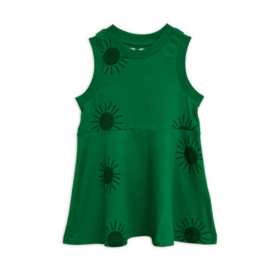 Mini Rodini Sun Tank Dress Green