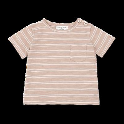 1+ in the family Luca t-shirt argila/white