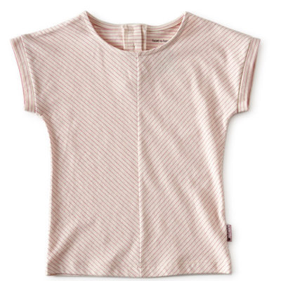 Little Label top fluo pink stripe