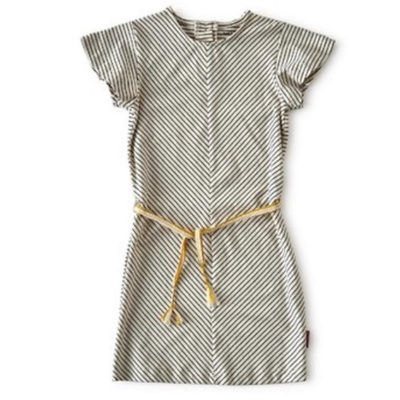 Little Label Dress creme black stripe