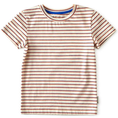 Little Label t-shirt Blue Orange Stripe