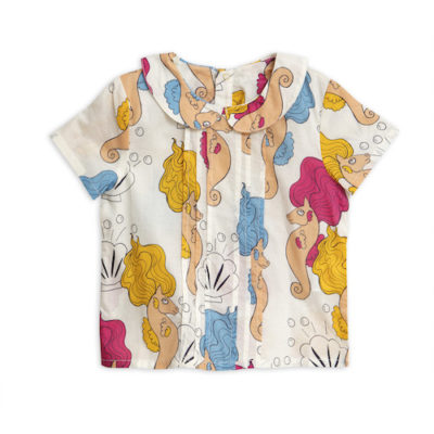 Mini Rodini Seahorse pleat Blouse