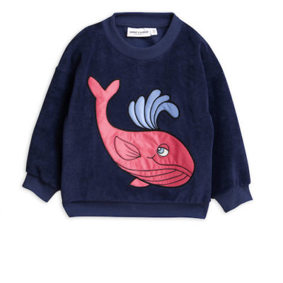 Mini Rodini Whale Terry Sweatshirt