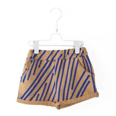 Lotiekids Oversized Shorts Stripes Camel