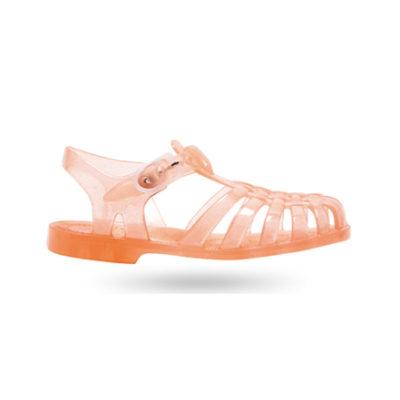 Meduse waterschoenen zalm oranje glitter
