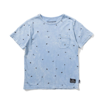 Munsterkids Shirt Palm Punk Blue