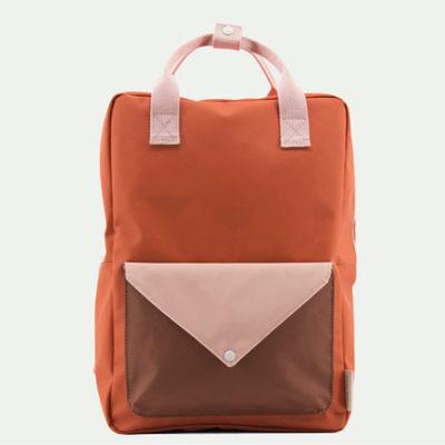 Sticky Lemon Large Backpack envelope tangerine