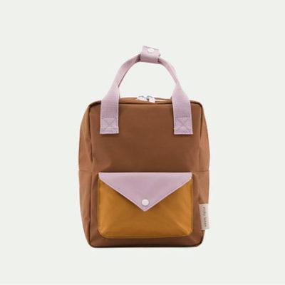 Sticky Lemon Small Backpack envelope sugar brown