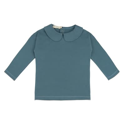 Phil & Phae Collar tee Balsam blue