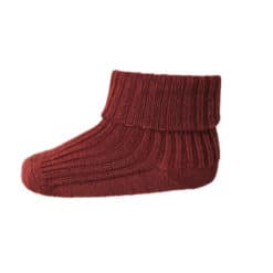 mp Denmark babysokje wool rib dark brick