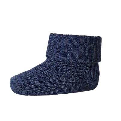 mp Denmark babysokje wool rib dark denim melange