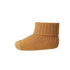 mp Denmark babysokje wool rib dark mustard