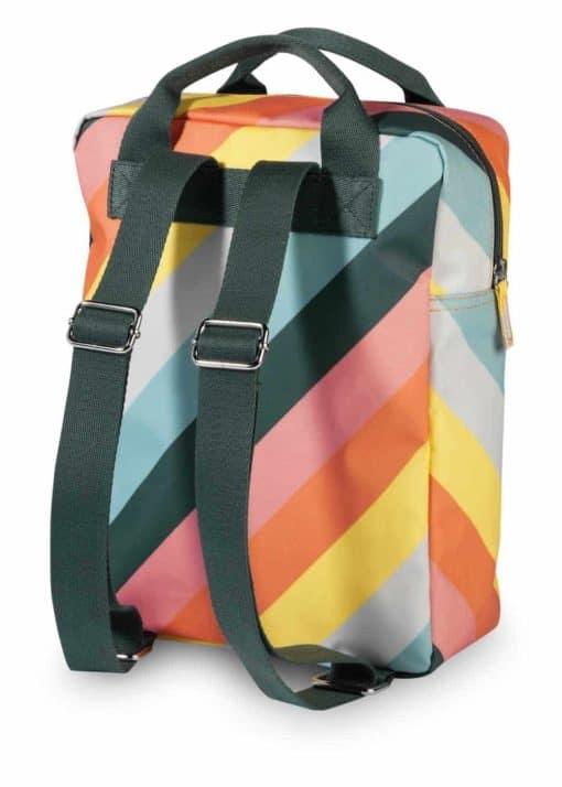 Engel. rugzak Stripe Rainbow medium